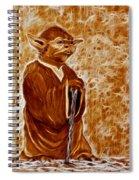 Jedi Master Yoda Digital From Original Coffee Painting Spiral Notebook