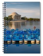 Jefferson Memorial And Paddle Boats Spiral Notebook