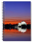 Jefferson Memorial At Dawn Spiral Notebook