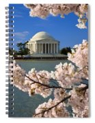 Jefferson Memorial Cherry Trees Spiral Notebook