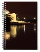 Jefferson Memorial From Across The Tidal Pool Spiral Notebook