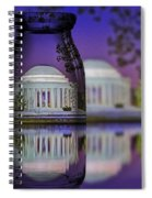 Jefferson Memorial In A Bottle Spiral Notebook