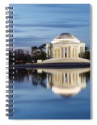 Washington Dc Jefferson Memorial In Blue Hour Spiral Notebook