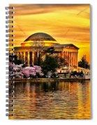 Jefferson Memorial Sunset Spiral Notebook