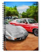 Jeffs Cars Corvette And 442 Olds Spiral Notebook