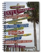 Jekyll Island Where To Go Spiral Notebook
