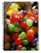 Jelly Beans Spilling Out Of Glass Jar Spiral Notebook