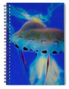 Jellyfish 2 Digital Artwork Spiral Notebook