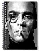 Jeremy Irons Portrait Spiral Notebook
