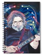 Jerry Garcia And Lights Spiral Notebook