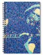 Jerry Garcia Chuck Close Style Spiral Notebook