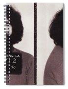 Jerry Garcia Mugshot Spiral Notebook