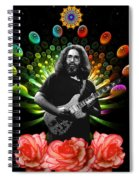 Jerry Spacepods Ufo Roses Under Cosmic Sun Spiral Notebook