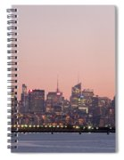 Jersey City And New York City  With Manhattan Skyline Over Hudso Spiral Notebook