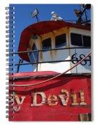 Jersey Devil Clam Boat Spiral Notebook