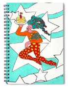 Jester With Cake Spiral Notebook