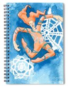 Jester With Snowflakes Spiral Notebook