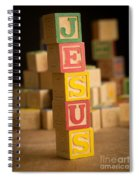 Jesus - Alphabet Blocks Spiral Notebook