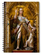 Jesus And Angel Sculptures In Mezquita Spiral Notebook