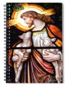 Jesus And Lambs Spiral Notebook