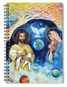 Jesus And Mary Cloud Colored Christ Come Spiral Notebook