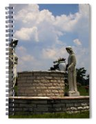 Jesus And The Woman At The Well Cemetery Statues Spiral Notebook