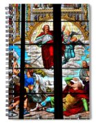 Jesus Angels Stained Glass Painting Inside Cologne Cathedral Germany Spiral Notebook