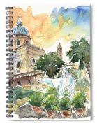 Jesus By Palermo Cathedral Spiral Notebook