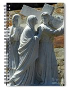 Jesus Carrying Cross Spiral Notebook