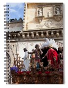 Jesus Christ And Roman Soldiers On Procession Platform Spiral Notebook