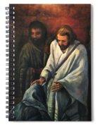 Jesus Healing Beggar Spiral Notebook