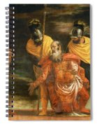 Jesus Healing The Servant Of A Centurion Spiral Notebook