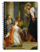 Jesus Healing The Woman With The Issue Of Blood Spiral Notebook