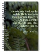 Jesus Is The Resurrection And The Life Spiral Notebook