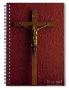 Jesus On Cross Against Red Wall Spiral Notebook