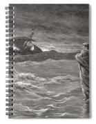 Jesus Walking On The Sea John 6 19 21 Spiral Notebook
