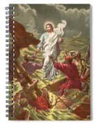 Jesus Walking On The Water Spiral Notebook