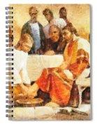 Jesus Washing Apostle's Feet Spiral Notebook