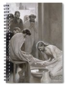 Jesus Washing The Feet Of His Disciples Spiral Notebook