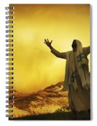 Jesus With Arms Stretched Towards Heaven Spiral Notebook
