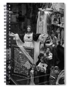 Jesus With Arms Wide Open Religious Figurines In A Shop Window In Toronto Spiral Notebook