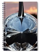 Airplane At Sunset Spiral Notebook