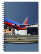 Jet Chicago Airplanes 12 Out Of Bounds Spiral Notebook