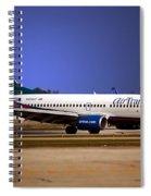 Jet Chicago Airplanes 15 Spiral Notebook