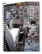 Jet Cockpit Spiral Notebook