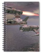 Jet Flying Low Spiral Notebook