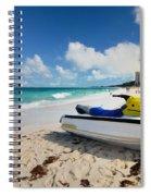 Jet Ski On The Beach At Atlantis Resort Spiral Notebook