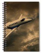 Jet Through The Clouds Spiral Notebook