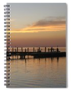 Jetty In The Eveninglight Spiral Notebook