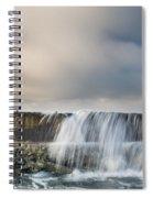 Jetty Spillover Waterfall Spiral Notebook